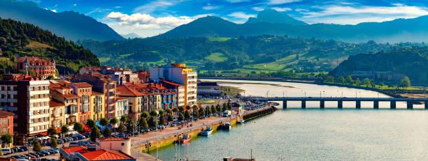 Fishing village of Asturias,Spain. stock photo