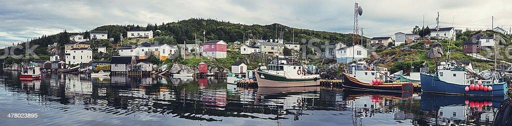 Fishing Village Panoramic stock photo