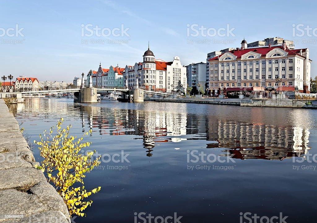 Fishing village - tourist attraction of Kaliningrad, Russia stock photo