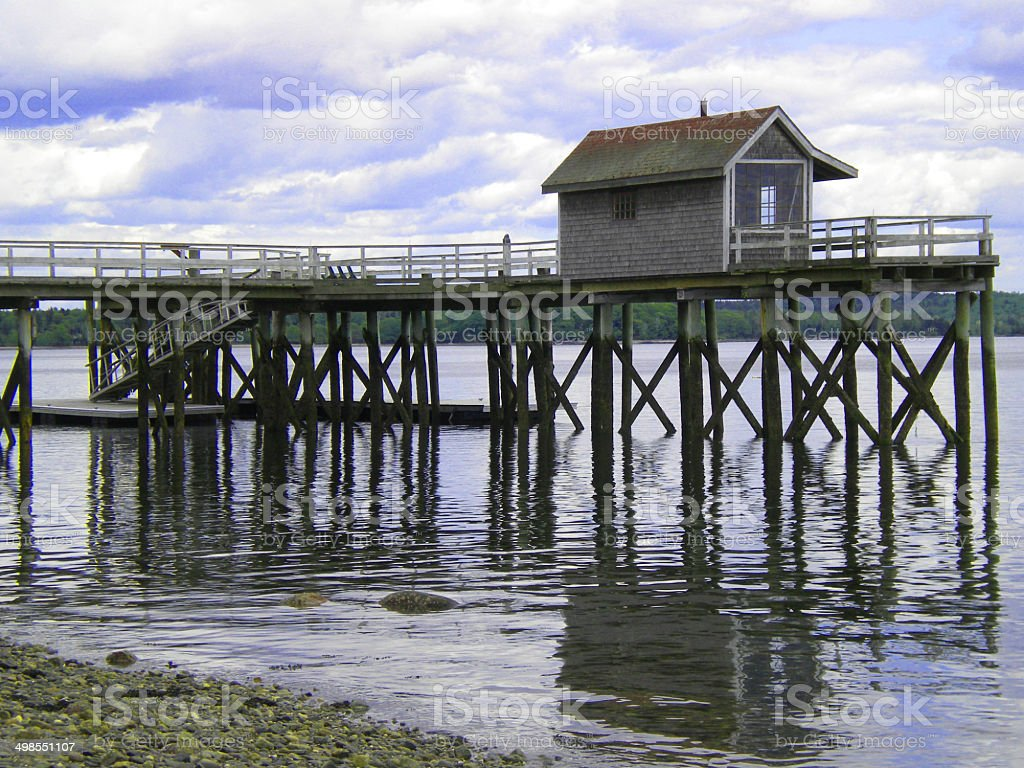 Fishing Wharf stock photo