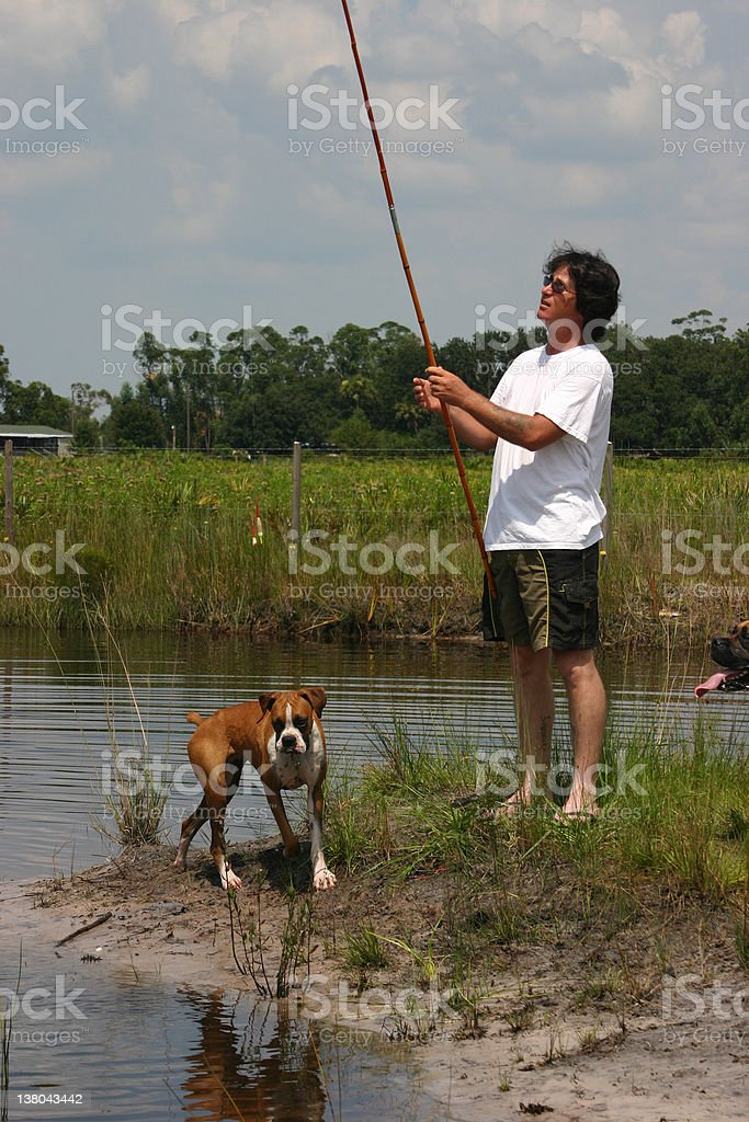 Fishing with Friends royalty-free stock photo