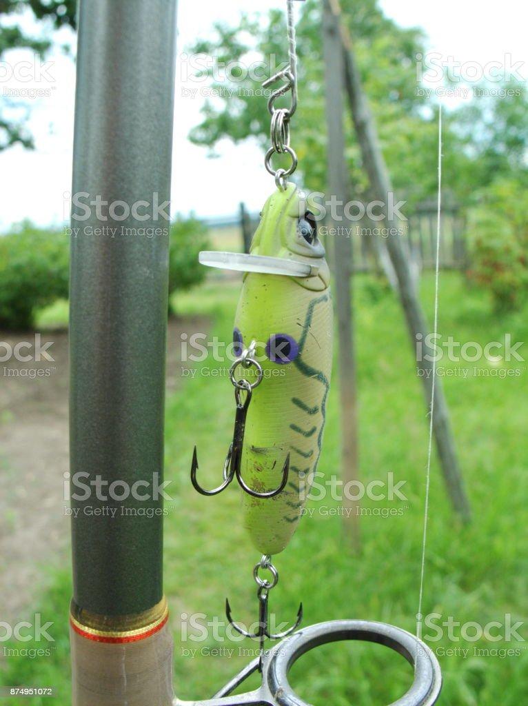 fishing wobbler spinning stock photo