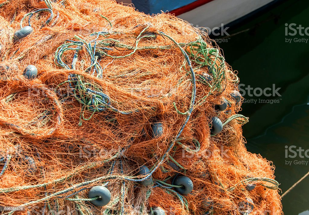 fishing-net royalty-free stock photo