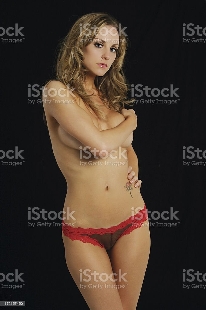 Fishnet G-String Panty Series royalty-free stock photo