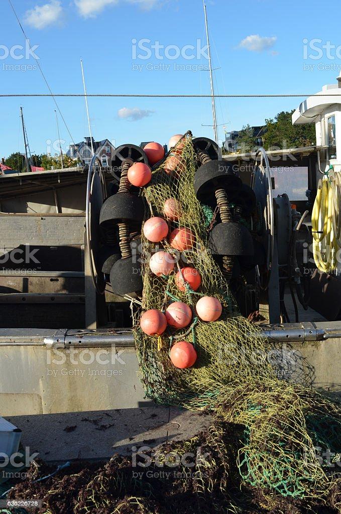 Fishnet on standby stock photo
