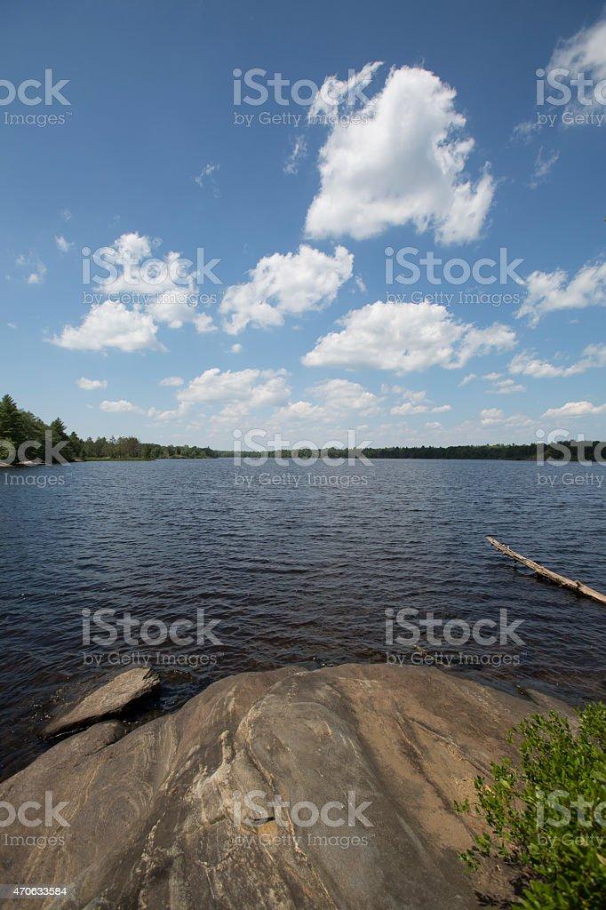 Fishog Lake rock stock photo