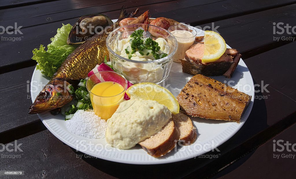 Fishplate from Bornholm, Denmark royalty-free stock photo