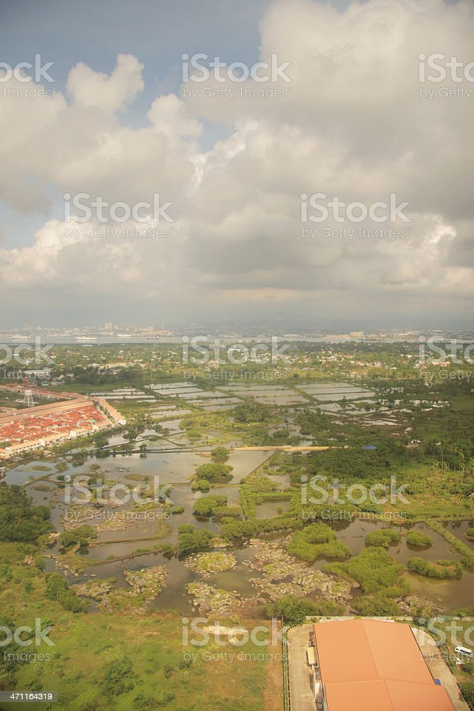 Fishponds and Marshland royalty-free stock photo