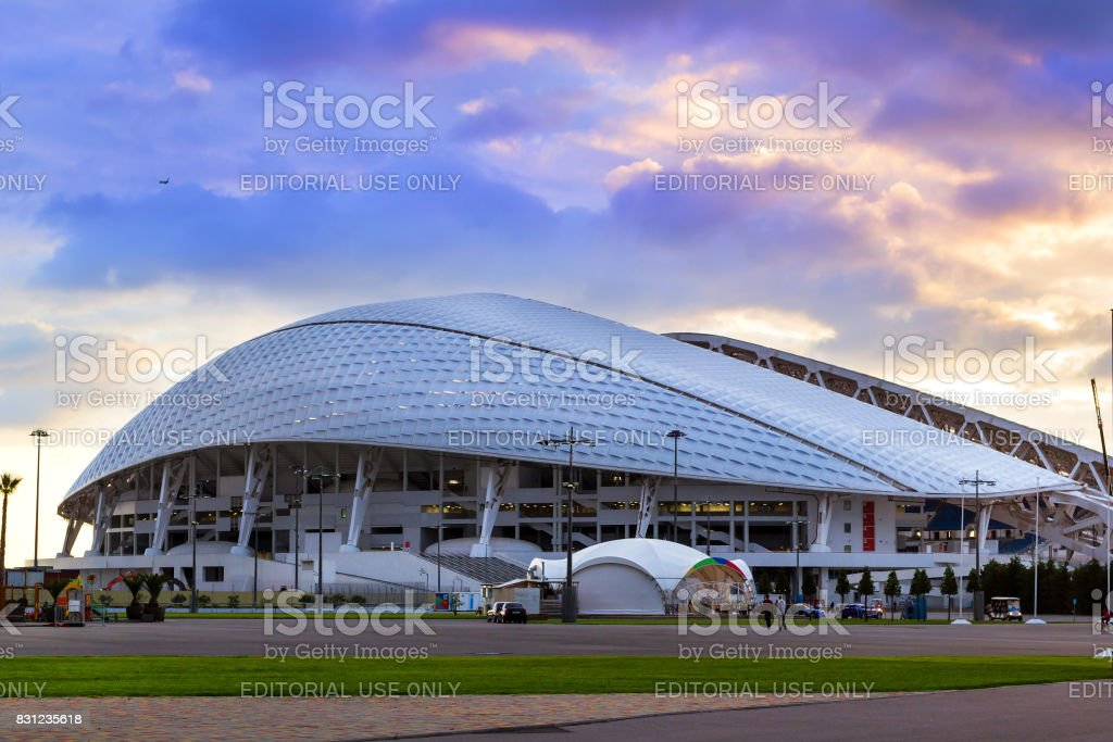 Fisht Olympic stadium in Sochi, Adler, Russia stock photo