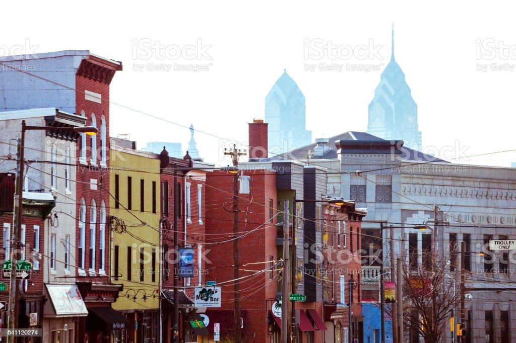 Fishtown district in Philadelphia, Pennsylvania. stock photo