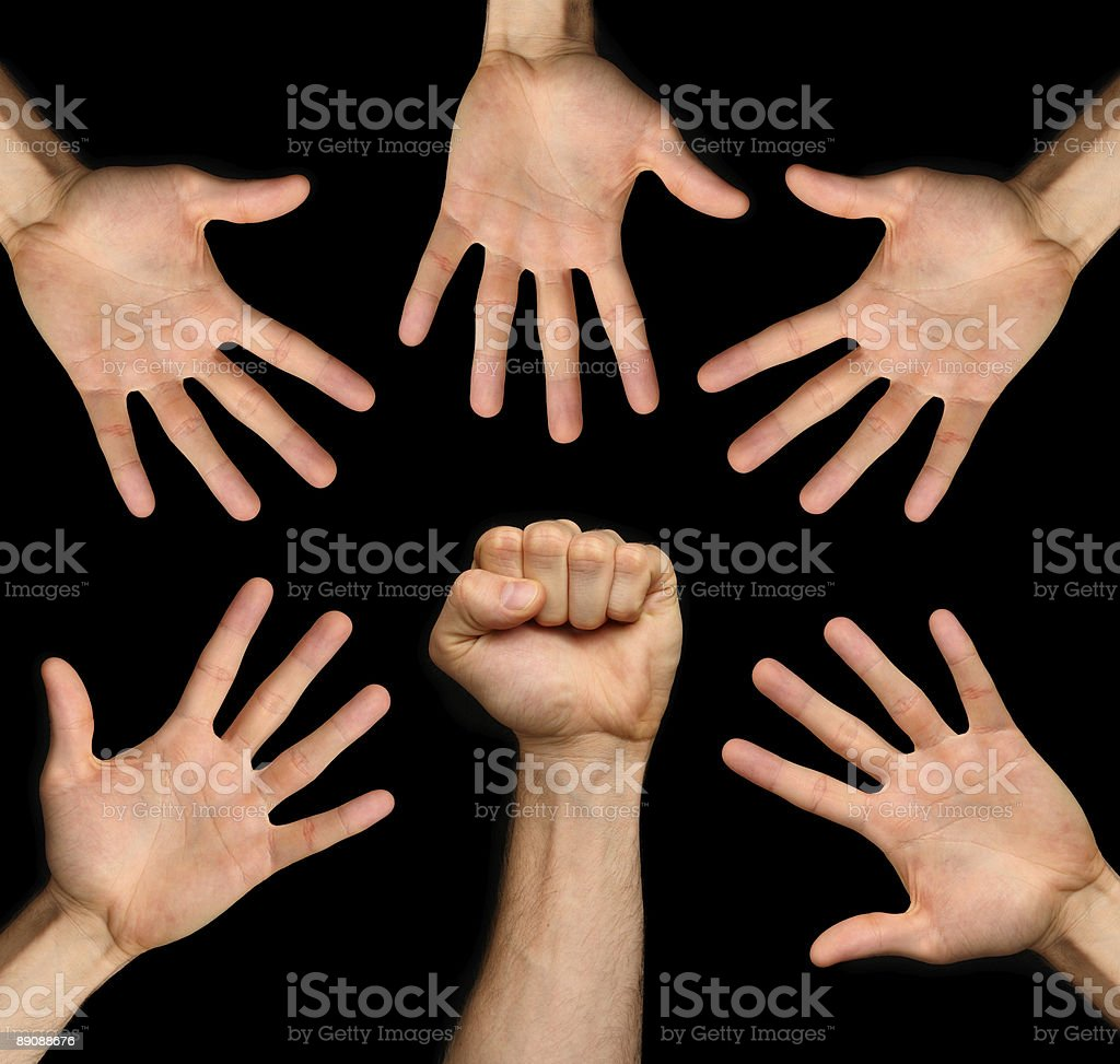 fist and hands royalty-free stock photo