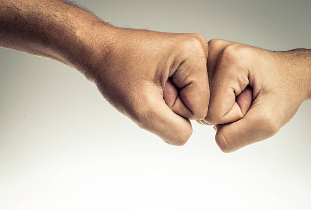 fist bump - bumpy stock pictures, royalty-free photos & images