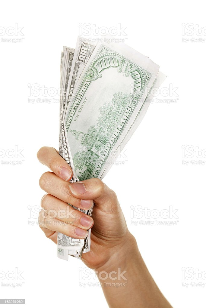 Fist Full of Dollars royalty-free stock photo