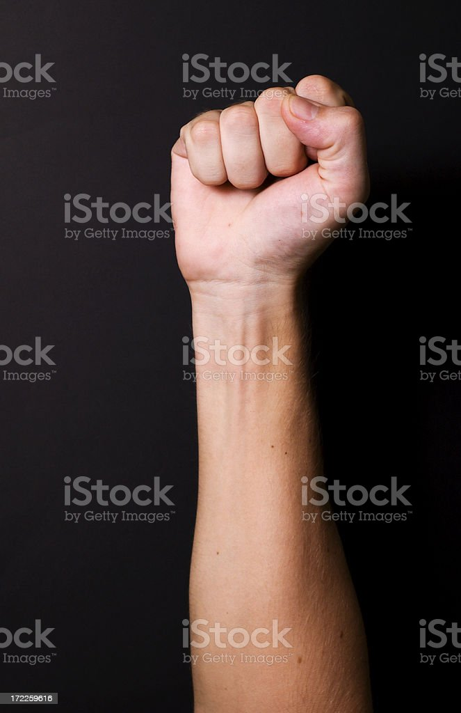 fist gesture royalty-free stock photo