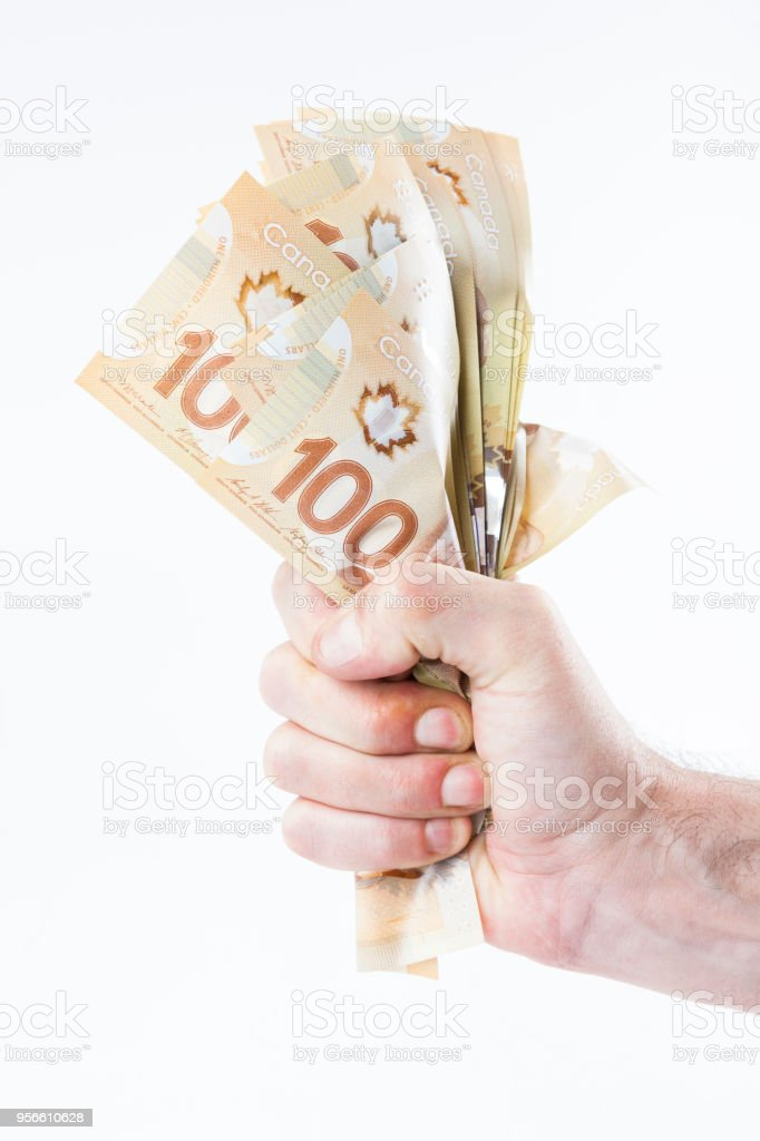 Faust greifen Haufen Geld - Kanada – Foto