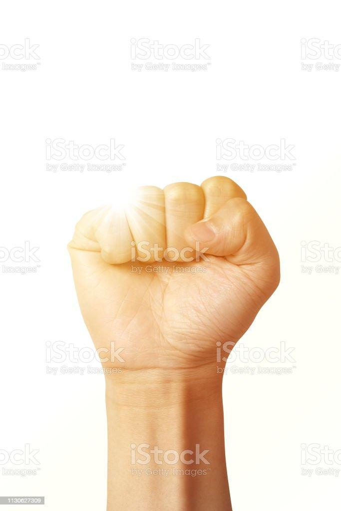 Fist Hand Sign - fotografia de stock