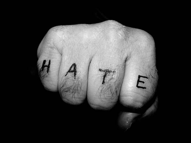 Fist - Hate stock photo