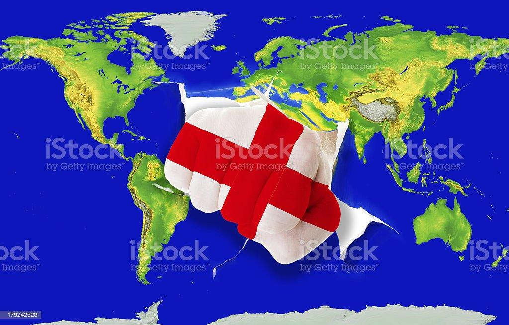 England To Australia Map.Map Of World England