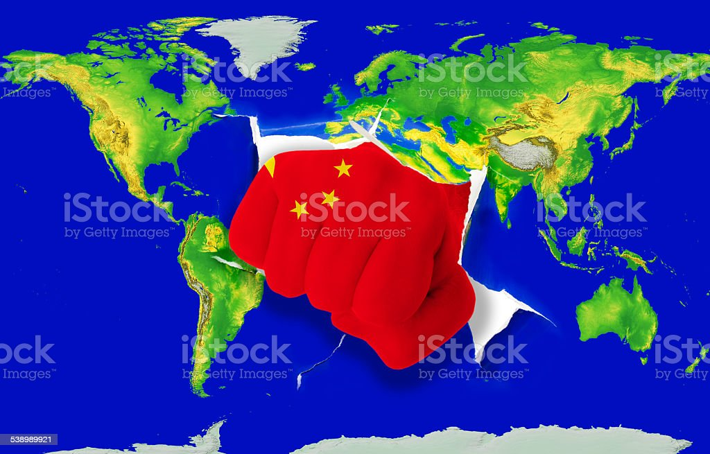 China On A World Map on