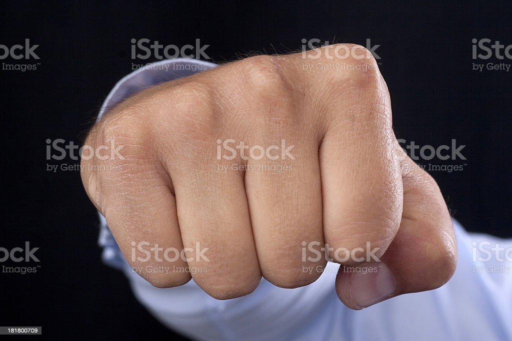 fist in your face royalty-free stock photo