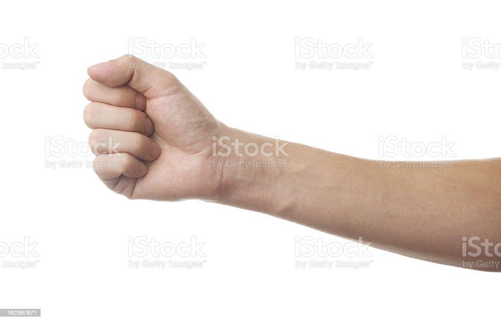Fist isolated on white background stock photo