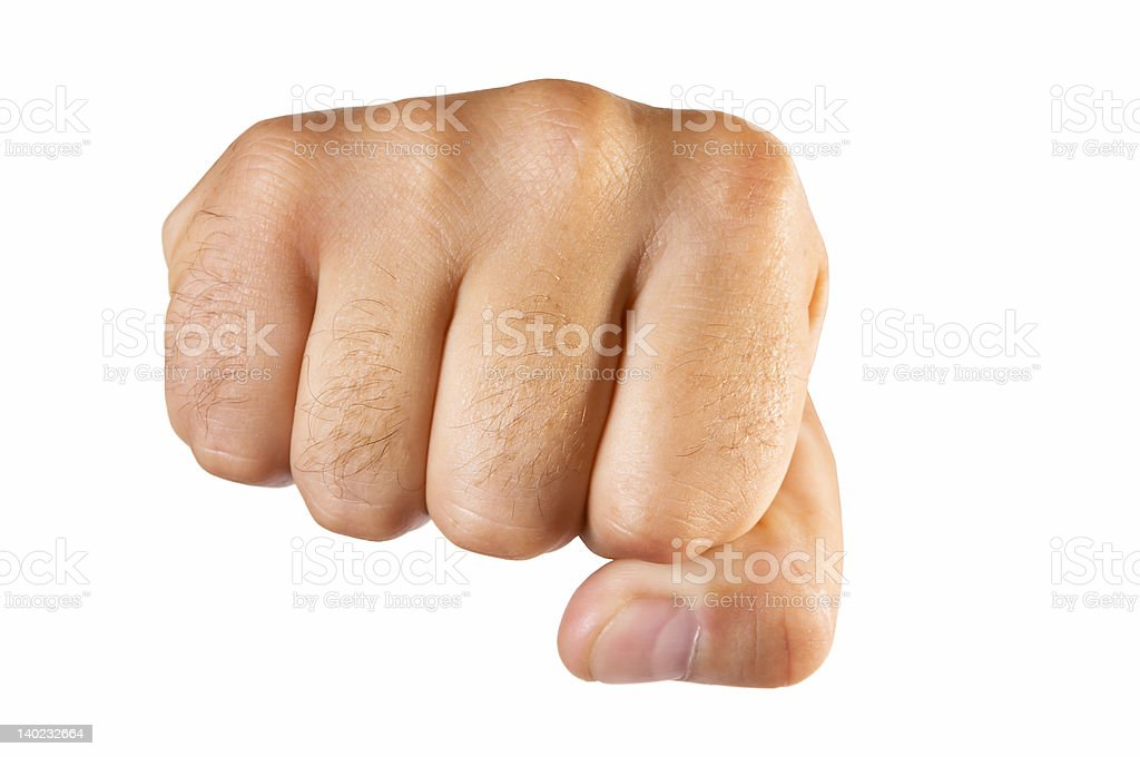 fist isolated royalty-free stock photo