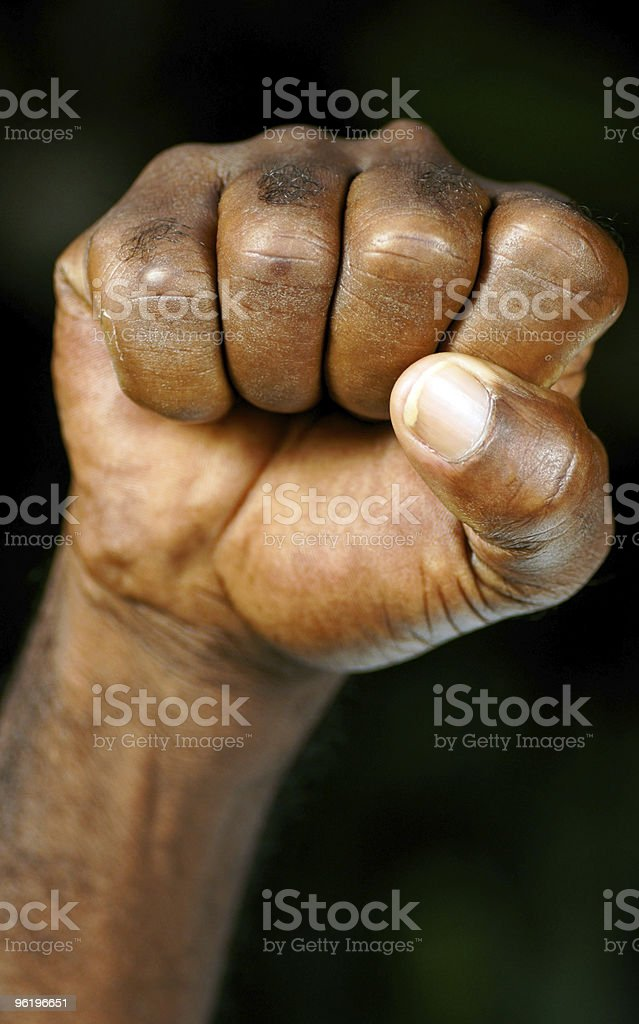 fist of an afican american man stock photo