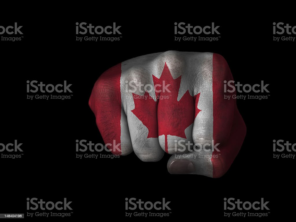 Fist of Canada royalty-free stock photo