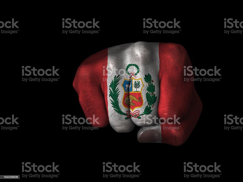 Fist of Peru stock photo