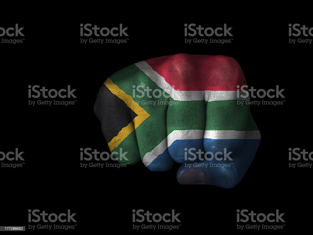 Fist of South Africa stock photo