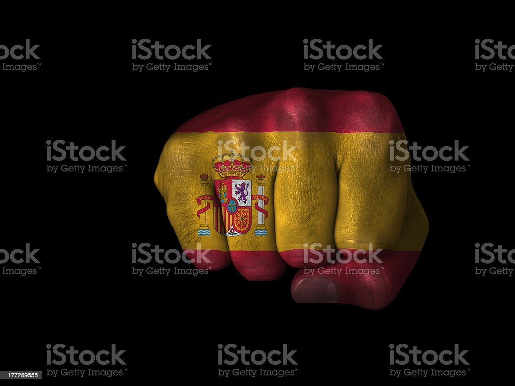 Fist of Spain stock photo
