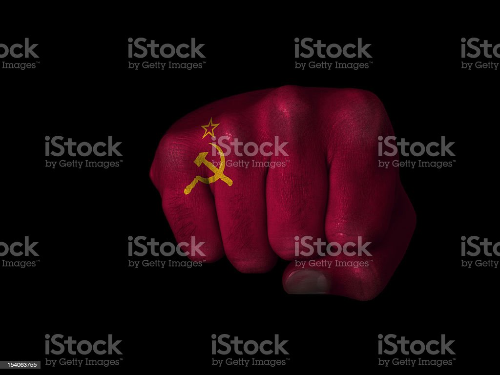 Fist of USSR royalty-free stock photo