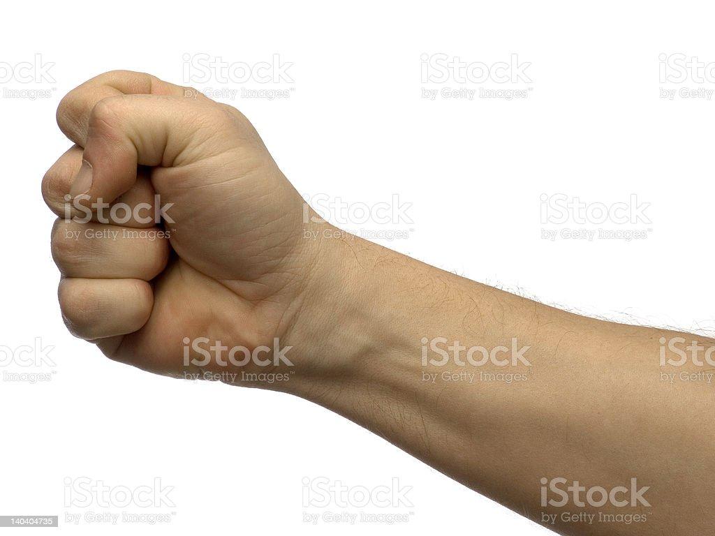 Fist royalty-free stock photo