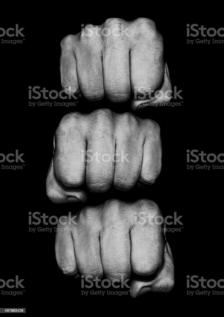 Fist pile stock photo