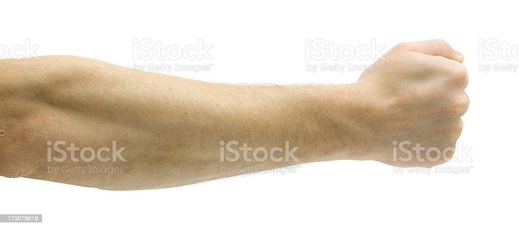 Fist - Rock stock photo