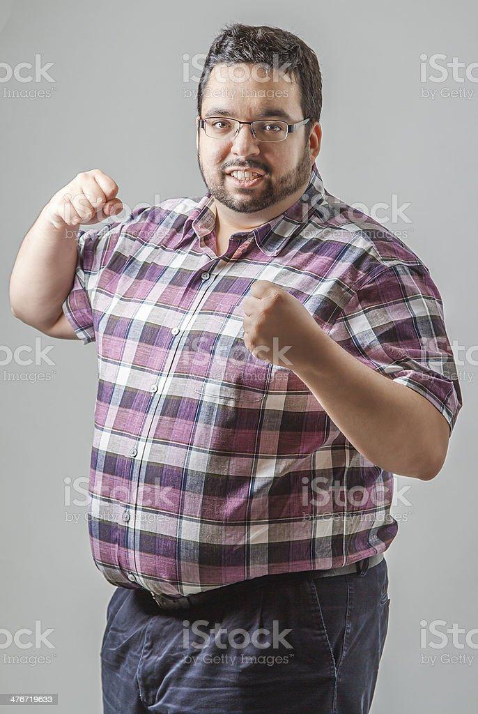 Fist up stock photo