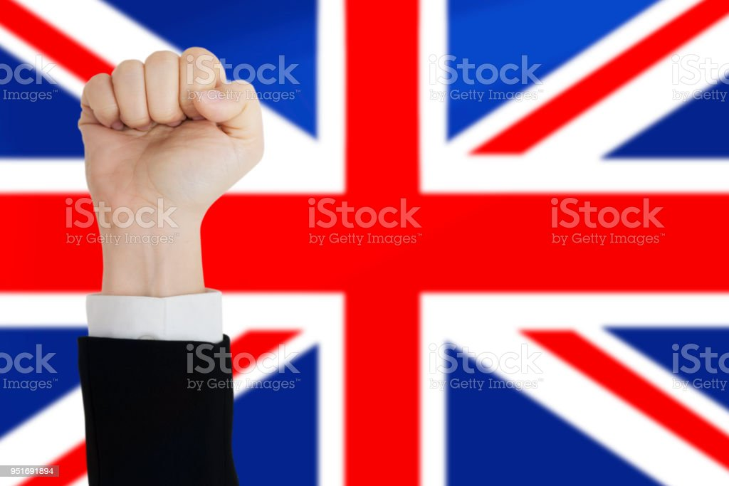 Fist with Flag stock photo
