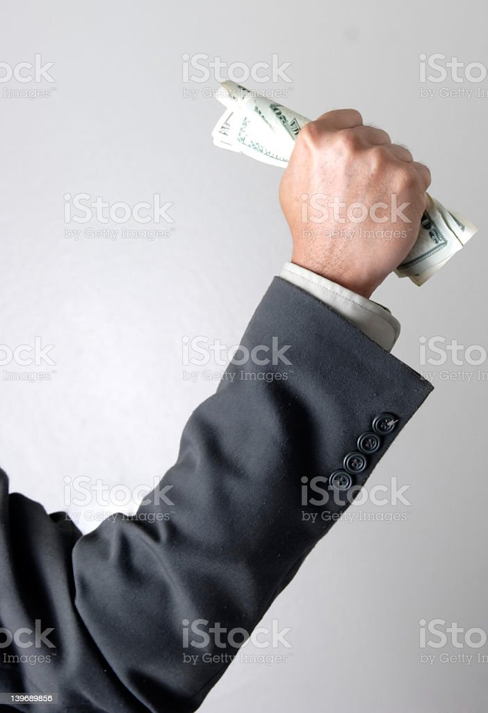 Fistful of dollars royalty-free stock photo