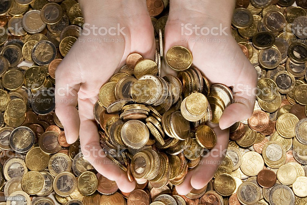 Fistful of Money stock photo