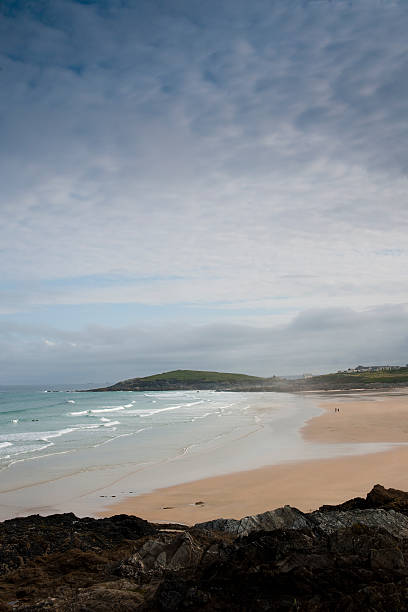 fistral beaach, newquay, cornwall - cornwall stock photos and pictures