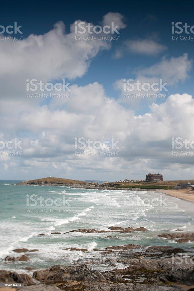 Fistral beach Newquay Cornwall stock photo