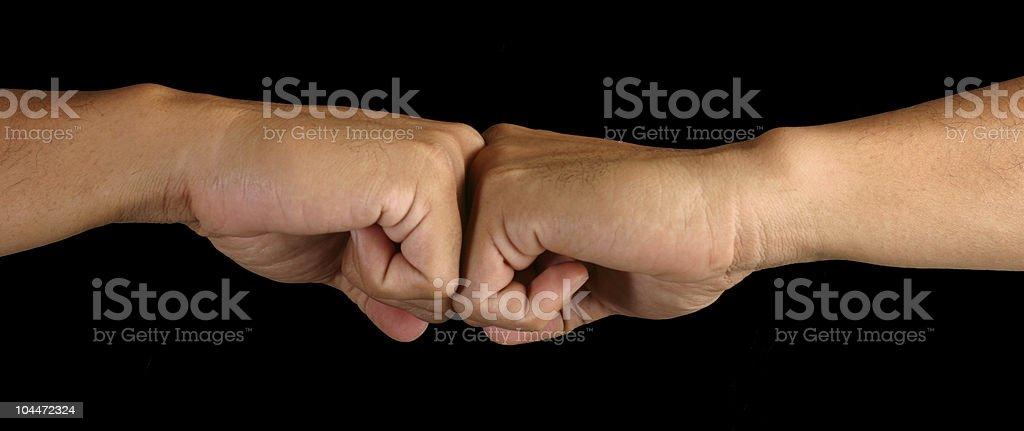 Fists Bump royalty-free stock photo