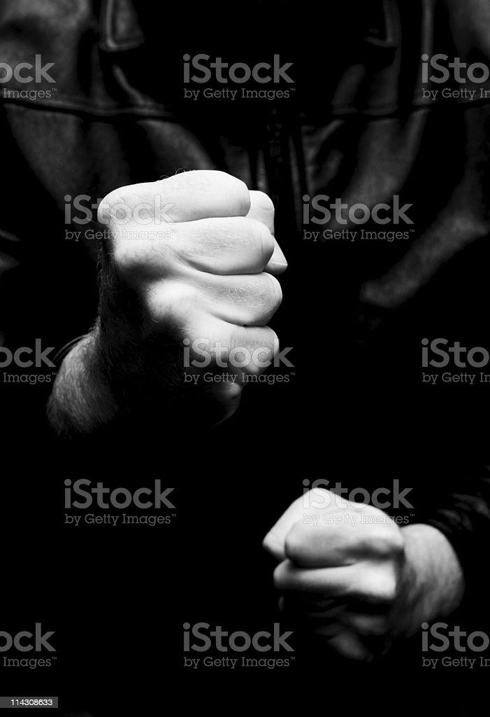 Fists (BW version) stock photo