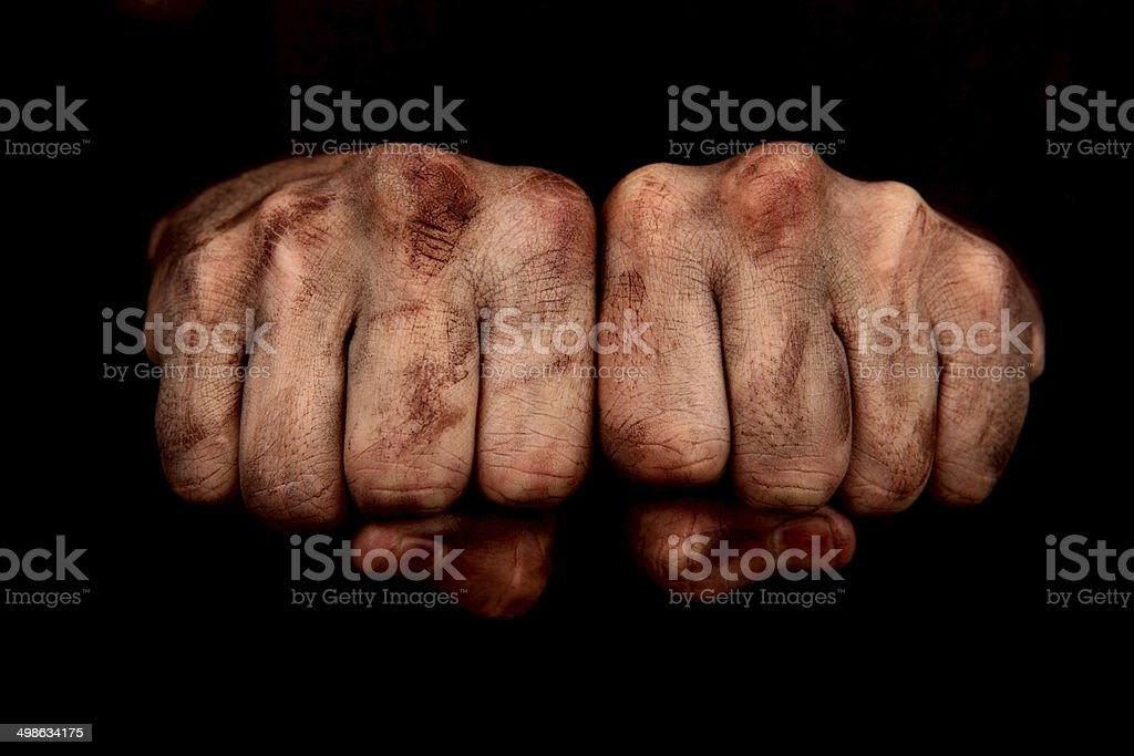 Fists Together stock photo