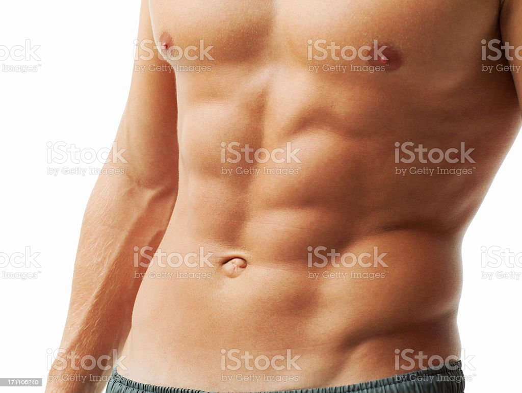 Fit Abdominal Muscles stock photo