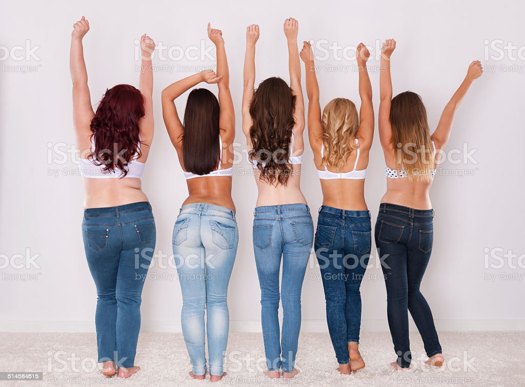 Fit and fashion jeans for every silhouette stock photo