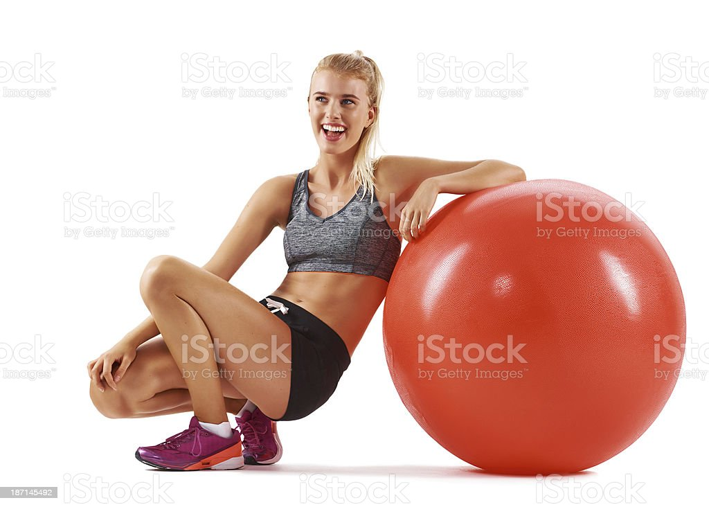 Fit and feeling great royalty-free stock photo