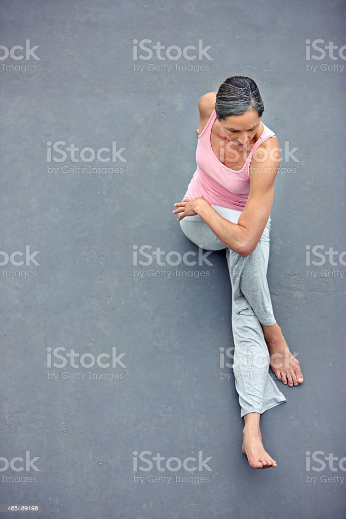 Fit and flexible stock photo