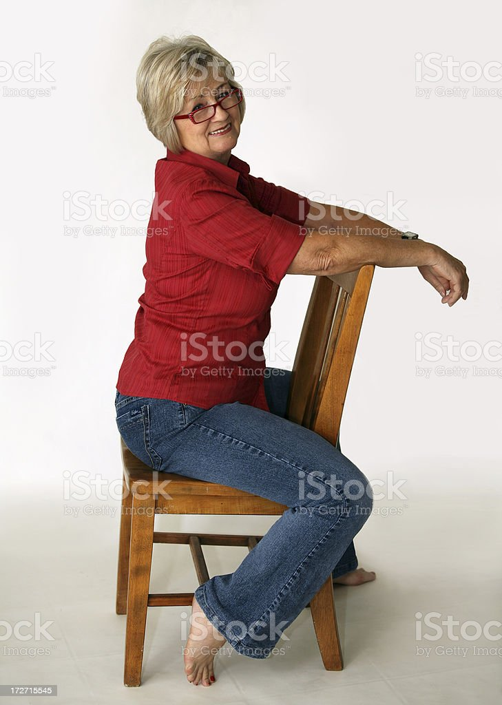 fit and happy at 60 stock photo