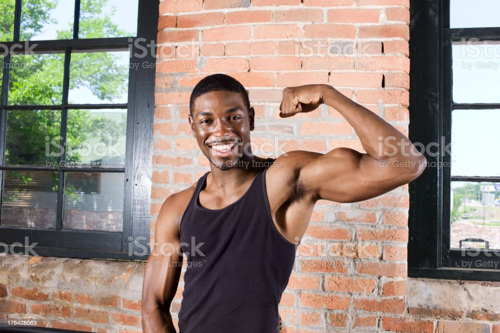 Fit and Strong African American Man royalty-free stock photo